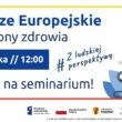 """Zapraszamy na Seminarium """"Fundusze Europejskie dla ochrony zdrowia"""" w województwie łódzkim."""